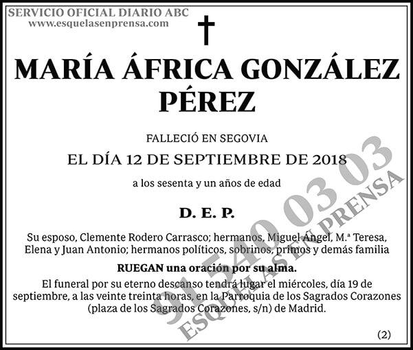 María África González Pérez